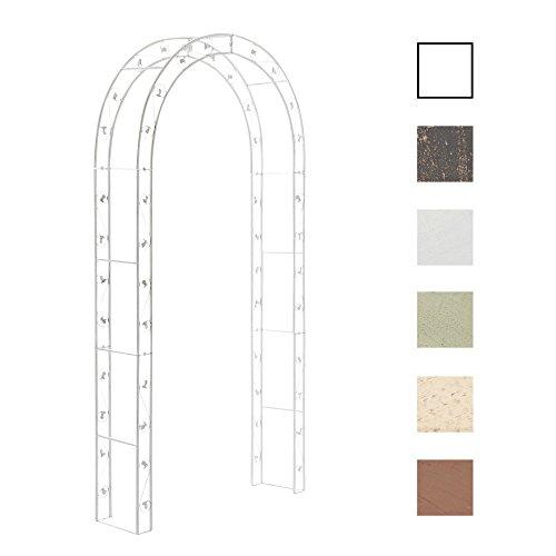 Metall-Rosenbogen SUMMER, Eisen pulverbeschichtet, 125 x 30 cm, Höhe 236 cm Antik Weiß