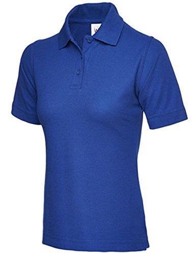 Ladies Pique-Maglietta Polo, taglia UK 8, 26 cm, per sport, palestra, da lavoro, Casual Blu