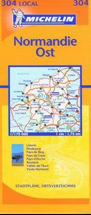 Michelin Local France Map #304: Eure, Seine-Maritime por Staff Michelin