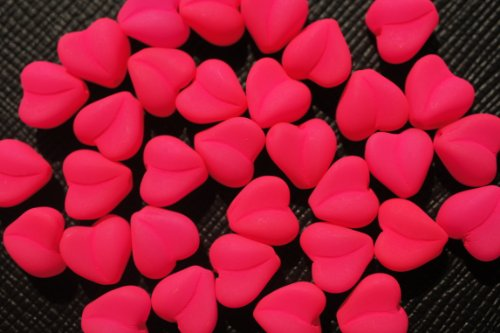 25-pcs-czech-glass-pressed-beads-estrela-neon-uv-active-heart-8-mm-pink
