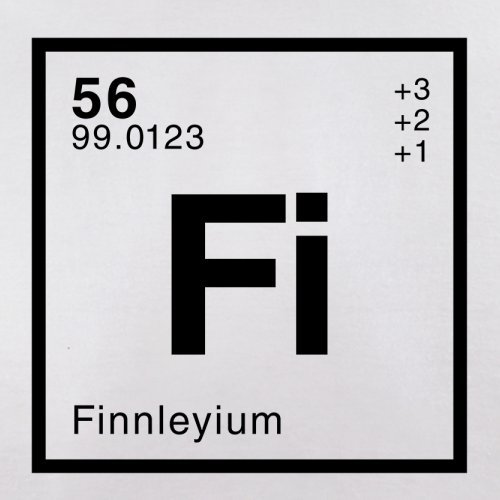 Finnley Periodensystem - Herren T-Shirt - 13 Farben Weiß