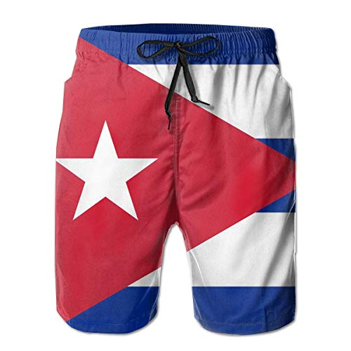 Helen vi Kuba-Flaggenmann 3D-Druck Grafik Schnell Trockene Boardshorts Beach Shorts, XL (Fußball-shorts Kuba)
