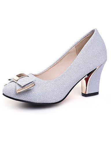 WSS 2016 Chaussures Femme-Bureau & Travail / Habillé / Soirée & Evénement-Noir / Argent / Or-Gros Talon-Talons-Talons-Paillette / Matières black-us5.5 / eu36 / uk3.5 / cn35