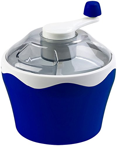 Rosenstein & Söhne Eisbereiter: Manueller Speiseeis-Bereiter mit Handkurbel, 500-ml-Kühlbehälter (Frozen Joghurt Maker)