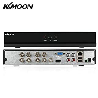 KKmoon 8 Channel Standalone CCTV DVR Recorder 960H H.264 HDMI VGA Output Video Surveillance Pre-alarm Recording 8-ch video 2-ch Audio input Pre-alarm Recordin And P2P Cloud Etc Function Supported