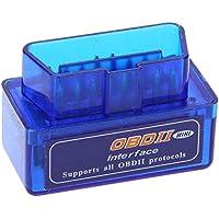 Yizhet Bluetooth OBD2 escáner Mini OBD2 V2.1 Mini Interfaz V2.1 Bluetooth OBD-II OBD2 Coche Herramienta de análisis de diagnóstico (Mini OBD2)
