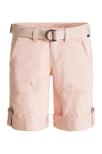 edc by Esprit 036cc1b015 - Play Turn Up Belt - Bermuda - Droit - Femme Rose (NUDE 685)