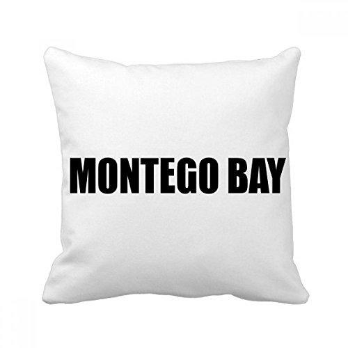 - DIYthinker Montego Bay Jamaika Stadt Werfen Namen Platz Kissen Insert Kissenbezug Startseite Sofa Dekor-Geschenk 40 x 40cm Mehrfarbig
