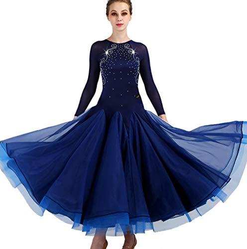 ZYLL RöckeBallsaal Walzer Kleid Für Frauen Spitzenhülse Klassische soziale Partei Tanz Performance Rock Burus Tango Cha Cha ()