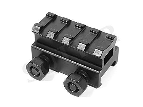 Adaptateur de hauteur de rails de montage l=45mm, 19-22mm sur 21mm - Montage pour lunettes de visée