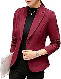 YiLianDa Abrigo Clasico Trenca Abrigo de Manga Larga Blazer Chaqueta para Mujer