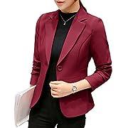 093be92fe974 YiLianDa Donna Ufficio Casuale Tailleur Elegante Corto Blazer Carriera  Tailleur Giacca Rosso M
