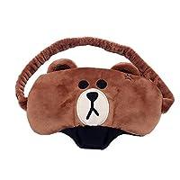SZTARA Cute Animal Sleep Eye Mask Cartoon Bear Night Eyeshade Kids Sleeping Blindfold