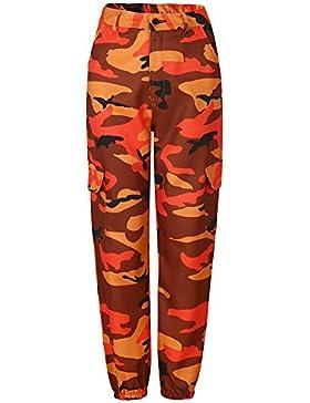 Juleya Pantaloni Harem Camouflage Pantaloni sportivi da donna Pantaloni mimetici Pantaloni cargo