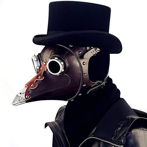 punk Full Face Pest Arzt Vogel Maske Long & Short Nase Schnabel Faux Cosplay Halloween Weihnachten Kostüm Requisiten (Farbe : Style1) ()
