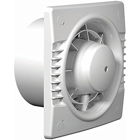 FEPRE - Extractor BASIC Ø-100 Estandar. POTENCIA: 14 W. 2.300 rpm. Extractor axial para ventilación continua o periódica de baños, cocinas y otros espacios públicos. Bajo nivel sonoro. Capacidad de extracción máxima de 95 m3/h. tiene una resistencia de temperatura de aire en movimiento de +1 a +45ºC.