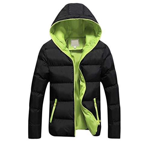 Giacca invernale cappuccio da uomo antivento koly imbottito cappotto con cappuccio collare eco-pelliccia addensare caldo impermeabile a prova di vento piumino giacca parka giubbini