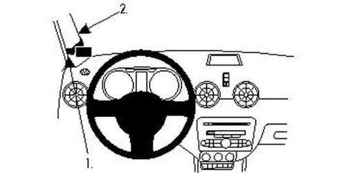Brodit ProClip - Kit de coche para Audi A1 11-11 (montaje izquierda, alto)