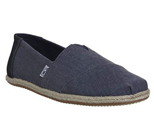 TOMS Chambray Stripe Herren Schuhe Blau - Blau-herren Toms