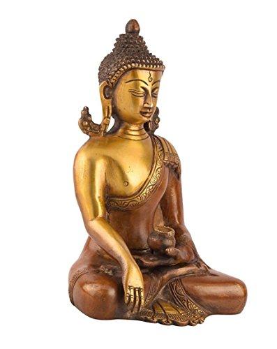 Hermoso elegante CraftVatika, regalo único para él o ella, 20,32 cm estilo sentado meditando Bhumisparsa estatua de Buda figura