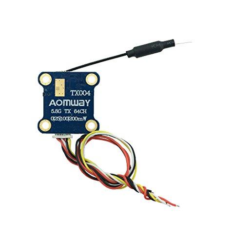 HankerMall TX004 Mini FPV Video Sender VTX 64CH Pit Modus Schaltbarer Sender (OSD-Menü für Einstellungen) für Racing Drone Quadcopter