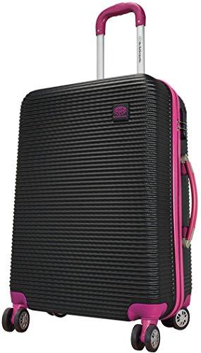 Bowatex Santorin Valise à roulettes rigide en ABS carbone/polycarbonate Noir/violet Taille L