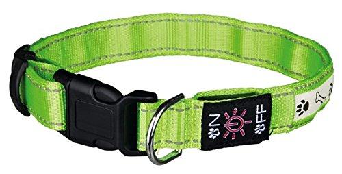 Trixie USB Flash Hundehalsband, Large/X-Large, Grün