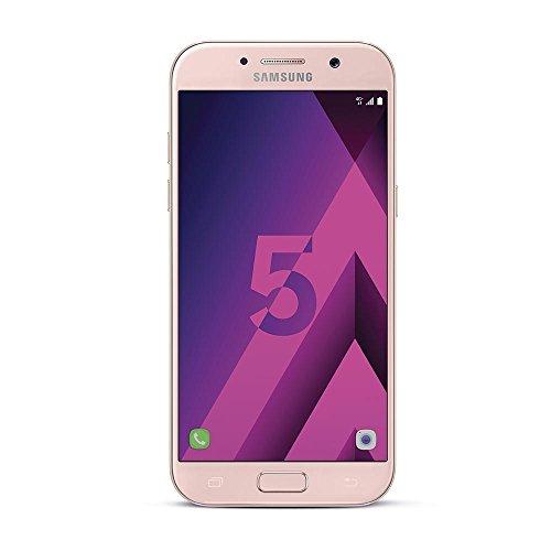 Samsung Galaxy A5 2017, Smartphone libre (5.2'', 3GB RAM, 32GB, 16MP/Versión francesa: No incluye Samsung Pay ni acceso a promociones Samsung Members), color Rosa