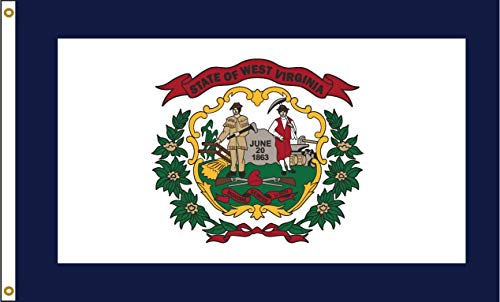West Virginia 8ftx12ft Nylon State Flagge 8x 12Made in USA 8'X12' -