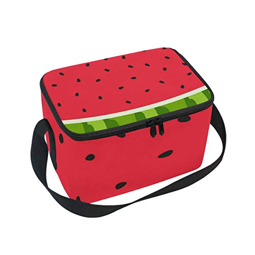 Bolsa de almuerzo con diseño de sandía para picnic, color rojo y...