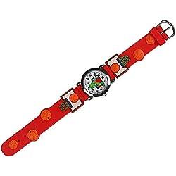 I. Valux 3d Cartoon Relojes de los niños niñas niños pulsera de regalo para niños, Red Basketball, 1