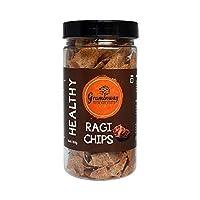 Graminway Healthy Ragi Chips | Roasted Crunchy Evening Munchies, 100 Grams, Pack of 1