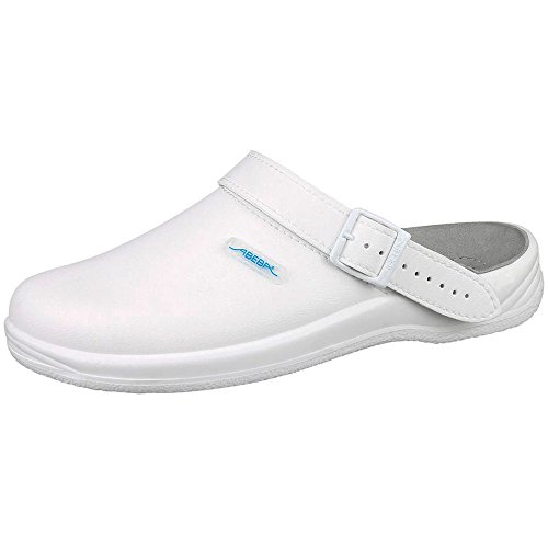 """Abeba dimensione 129,54 cm (51"""") 8302-51 freccia-Scarpe da lavoro per zoccolo, colore: bianco"""