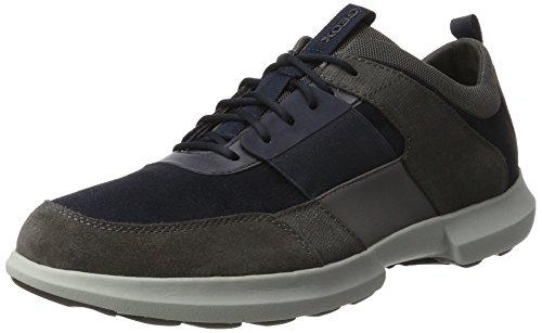 Geox U743RB08522, Zapatillas Hombre, Azul (Navy/anthracite), 41 EU