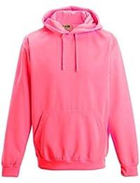 d050bc6c07b3 Coole-Fun-T-Shirts Herren Neon Sweatshirt mit Kapuze floureszierend