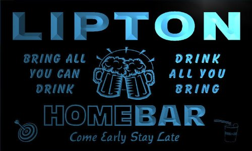 q26656-b-lipton-family-name-home-bar-beer-mug-cheers-neon-light-sign