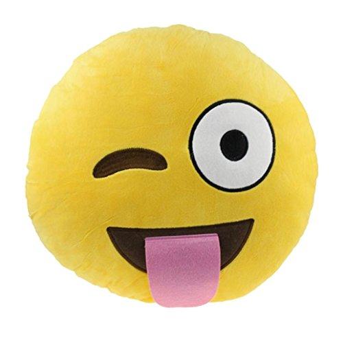 GillBerry Hogar del coche accesorio de la oficina Encantador smiley travieso Almohadilla del amortiguador de juguete de regalo (A)