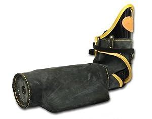 Manche courbée contre morsures pour l'entraînement Schutzhund avancé Dean & Tyler - BRAS GAUCHE - Fabriqué en cuir et matériaux uniquement adaptés aux chiens - Qualité exceptionnelle !!! Contactez-nous si vous désirez la manche DROITE !