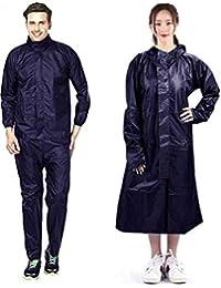 Brats N Beauty -Men I Women Black Color XXL Size One Piece Raincoat (Top + Pyjama for Men & Overcoat for Women)