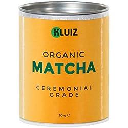 Frühlingsaktion - Bio Matcha Tee Pulver - Ceremonial Grade | Ideal für Matcha Tee | handverpackt in Aromaschutzdose | ohne Zwischenhandel