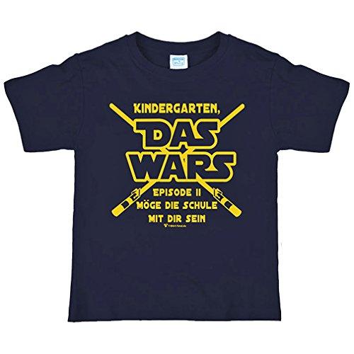 nfang T-Shirt Gr. 122/128 mit Spruch Kindergarten Das Wars Dunkelblau ()