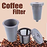 DIGIMALL K-Cup Filter Reusable Coffee Practical Durable Assembly Refillable Holder Gray