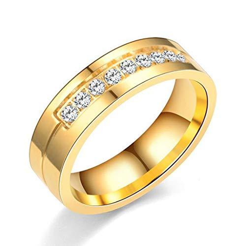 TIREOW Stilvoller einfacher Neuer Titan-Stahlring mit Diamantschmuck für Paare Freund Freundin Muttertag (10)