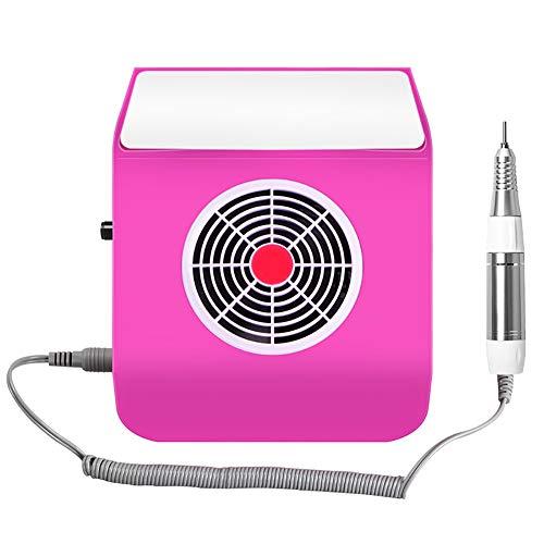 MTNAILS 2 in 1 65W Nägel Staub Saugen Kollektor Stark Nagelfräser Elektrisch Nagelfeile & Nagel Staubsauger Ventilator Maschine Maniküre Werkzeuge zum Nägel Kunst Polieren Acryl,Red (Staub-kollektor-zubehör)