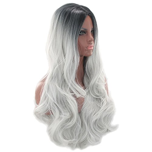 Perücke lockige Damen Frauen Lang Haar Damenperücke Wig -