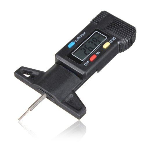 Digital Tiefenmesser Messchieber Profiltiefenmesser LCD Reifen Profilmesser