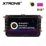 XTRONS 8 pulgadas Android 8.1 coche estéreo Octa Core HD digital multitáctil unidad de cabeza de pantalla Bluetooth coche radio multimedia reproductor Wifi GPS 4K Video coche DVD reproductor para VW Seat Skoda Passat Golf