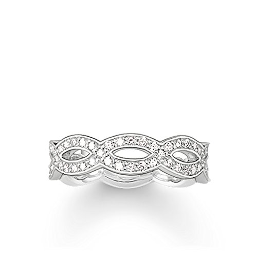 Thomas Sabo Damen-Ring Glam & Soul 925 Sterling Silber Zirkonia weiß Gr. 56 (17.8) TR1973-051-14-56