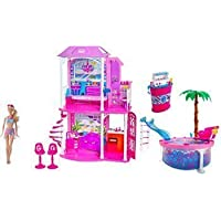 Barbie Ultimate Beach House Party! Glam Pool, BQQ, Doll and 30+ Accessories by Mattel [Toy] by Mattel