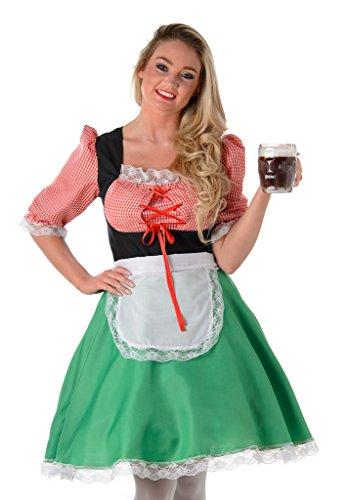 (Bayerische Hostess Damen Fancy Kleid Oktoberfest Bier Maid Damen Erwachsene Kostüm, 81063 S)